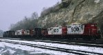 Soo Line and Milwaukee in St Paul MN daytons bluff in 1997.